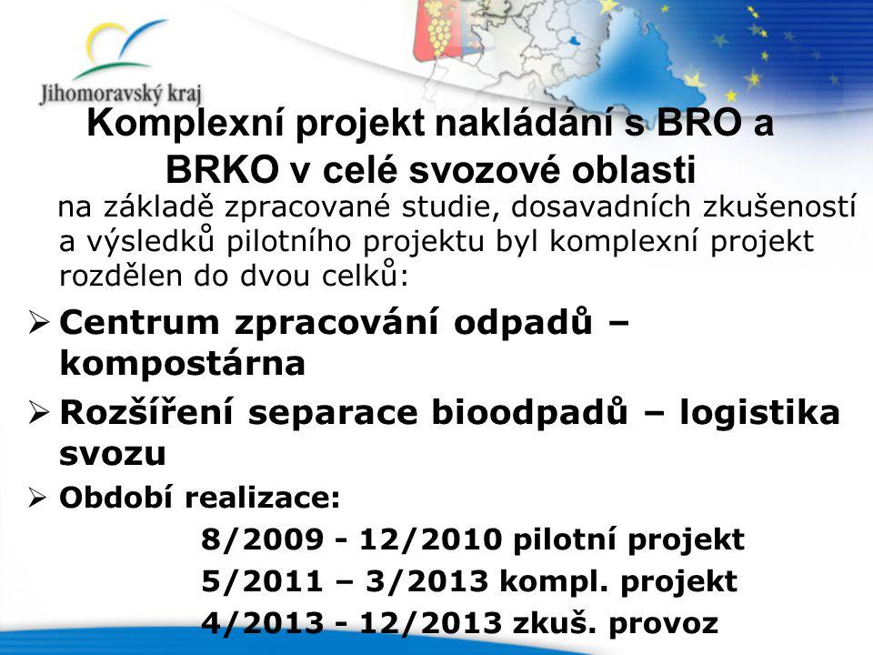 Komplexní projekt nakládání s BRO a BRKO v celé svozové oblasti