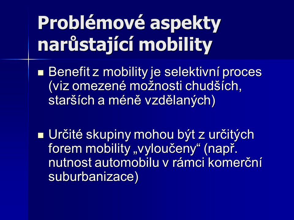 Problémové aspekty narůstající mobility