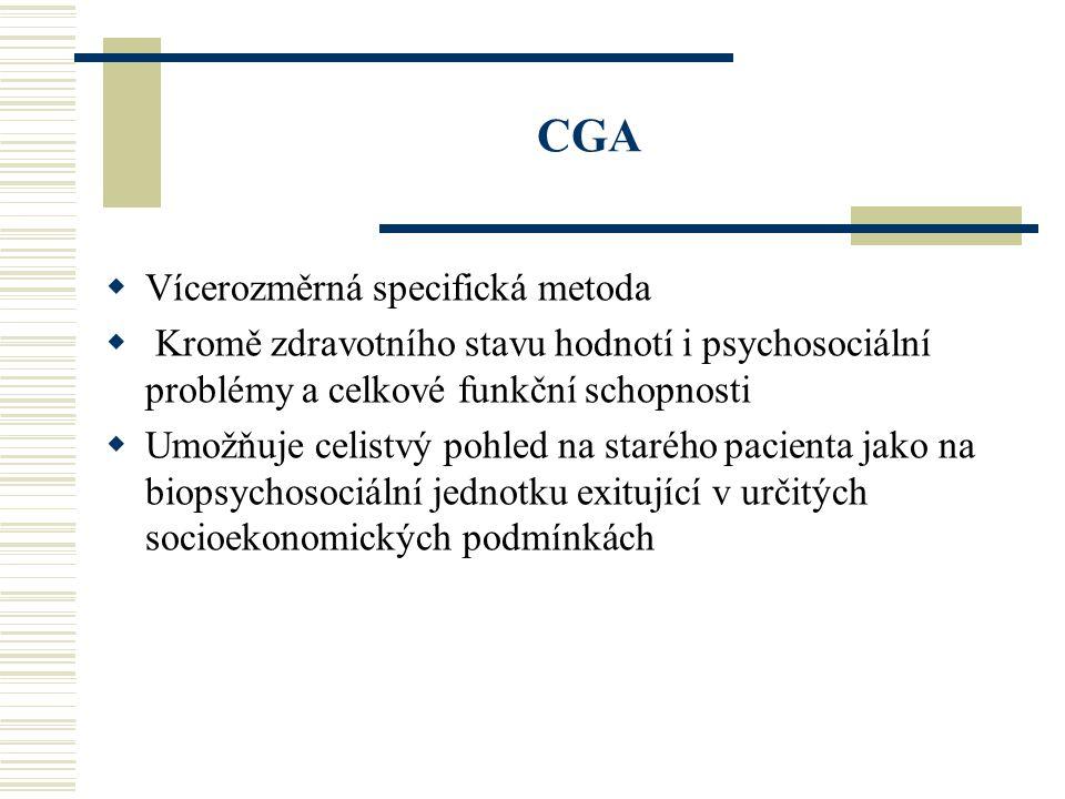 CGA Vícerozměrná specifická metoda