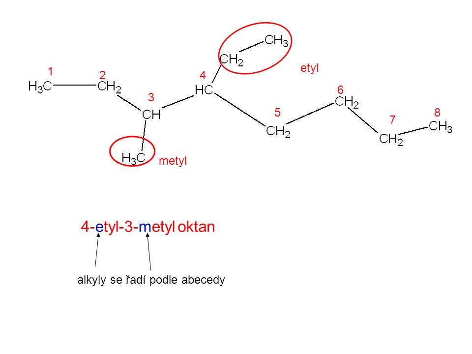 4-etyl-3-metyl oktan etyl 1 2 4 6 3 5 8 7 metyl