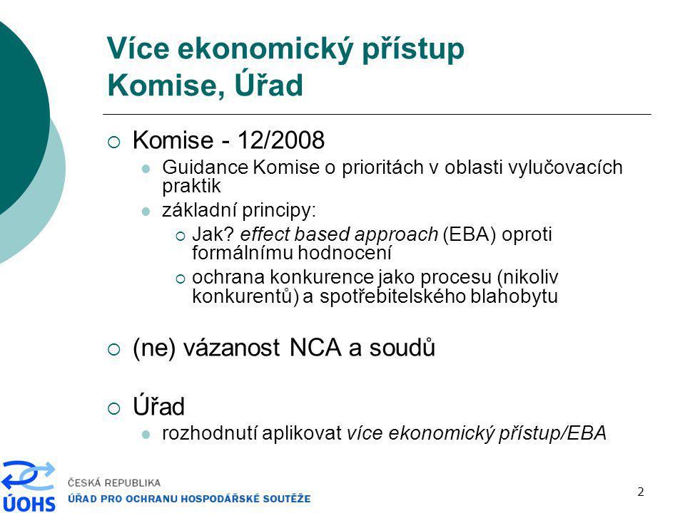 Více ekonomický přístup Komise, Úřad