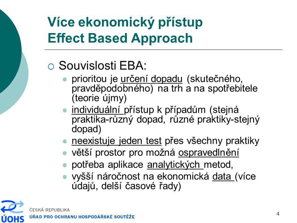 Více ekonomický přístup Effect Based Approach