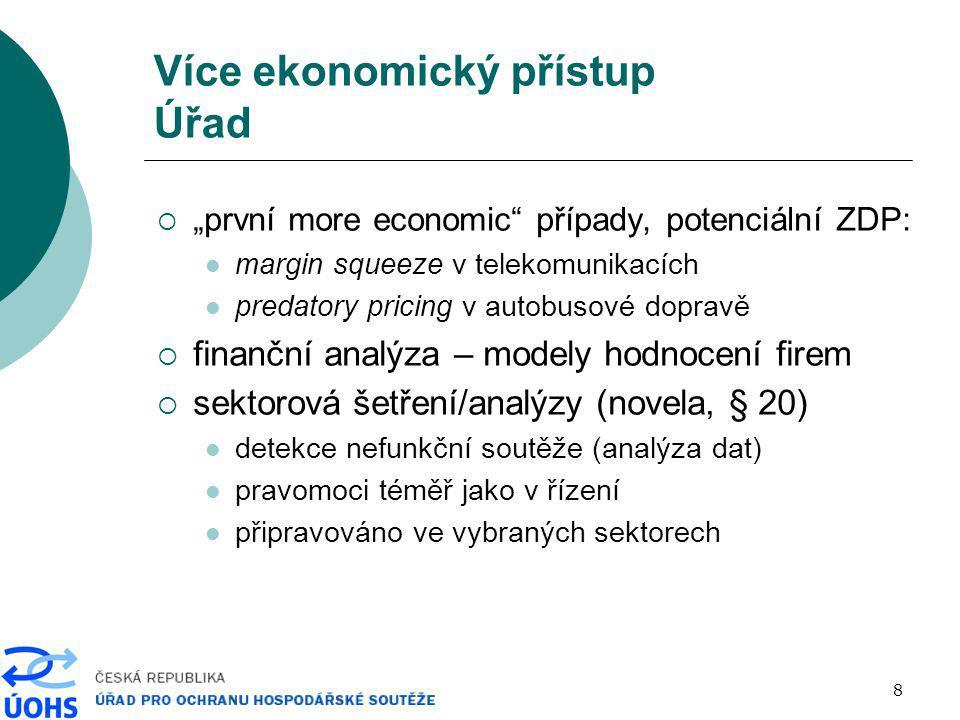 Více ekonomický přístup Úřad