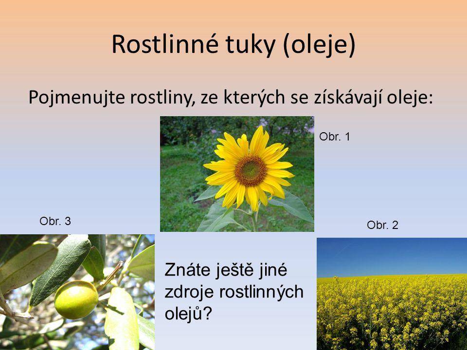 Rostlinné tuky (oleje)