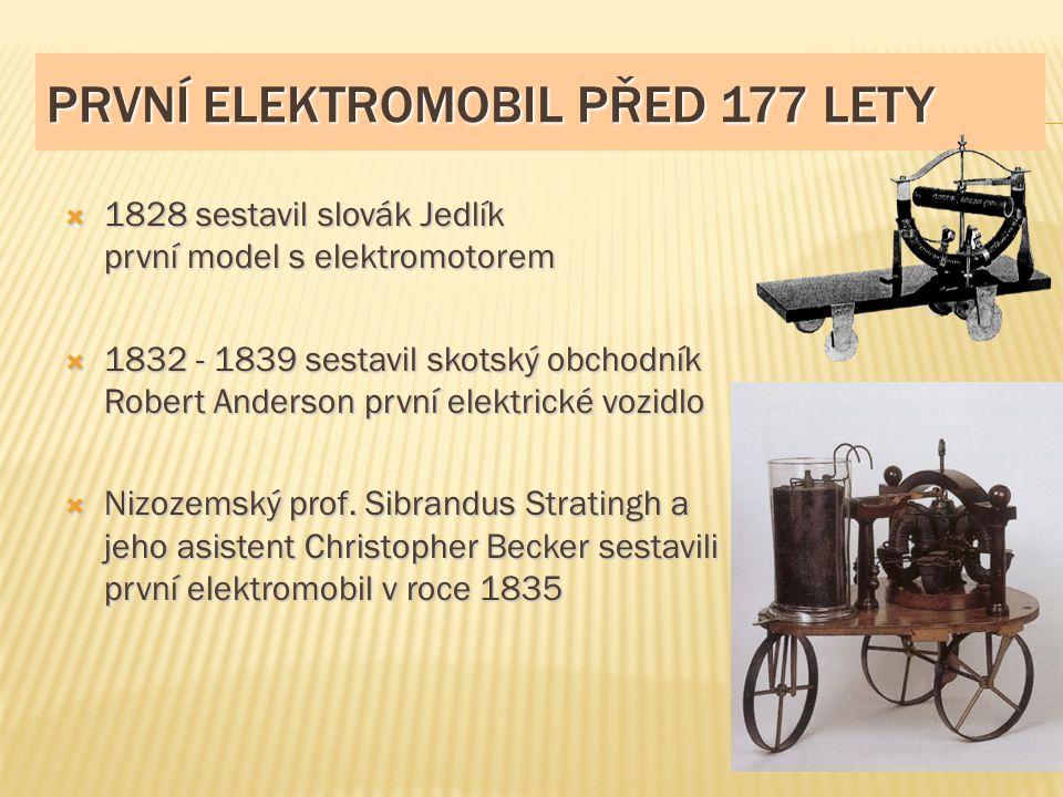 První elektromobil před 177 lety