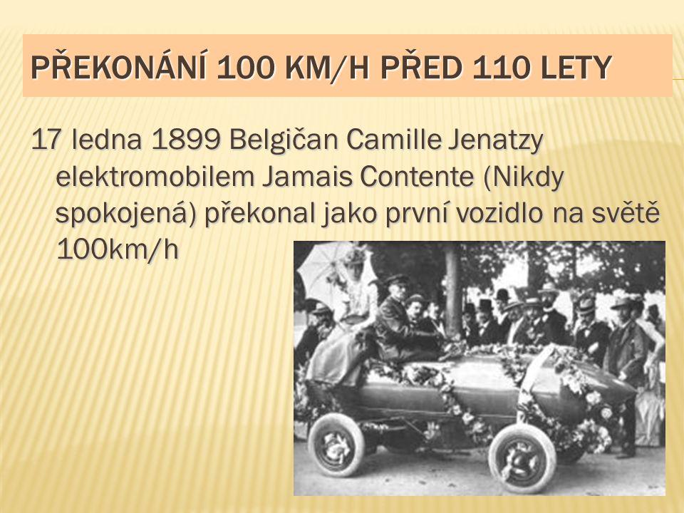 Překonání 100 km/h před 110 lety
