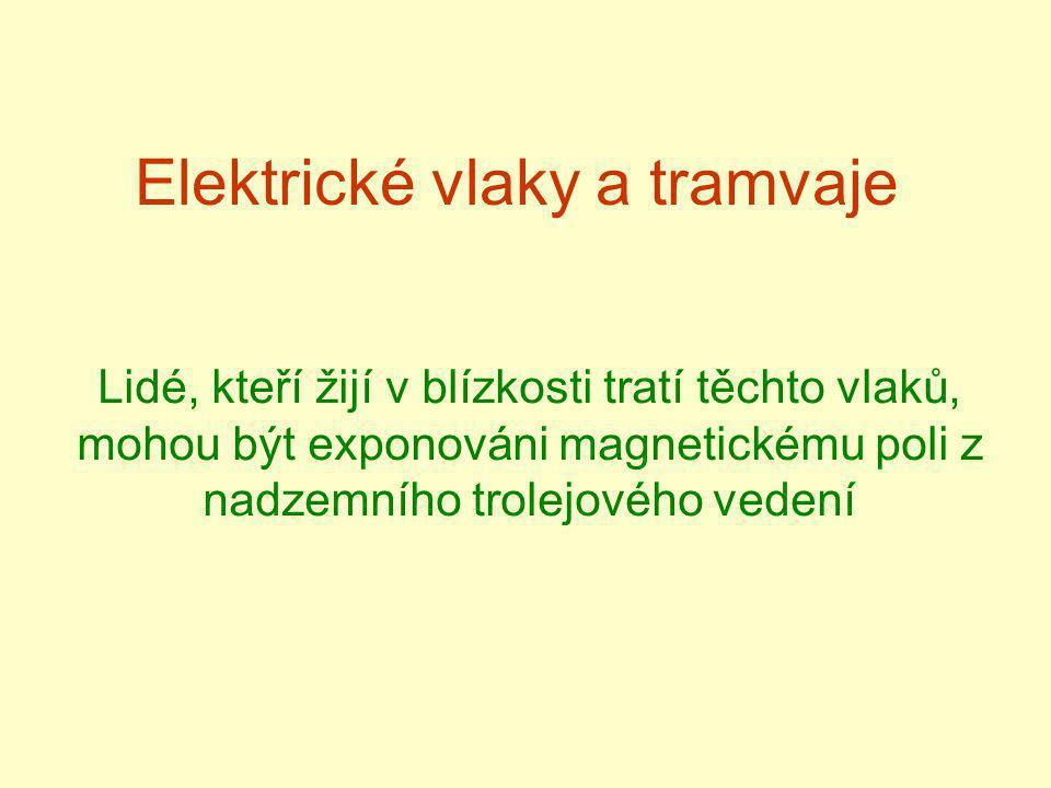 Elektrické vlaky a tramvaje