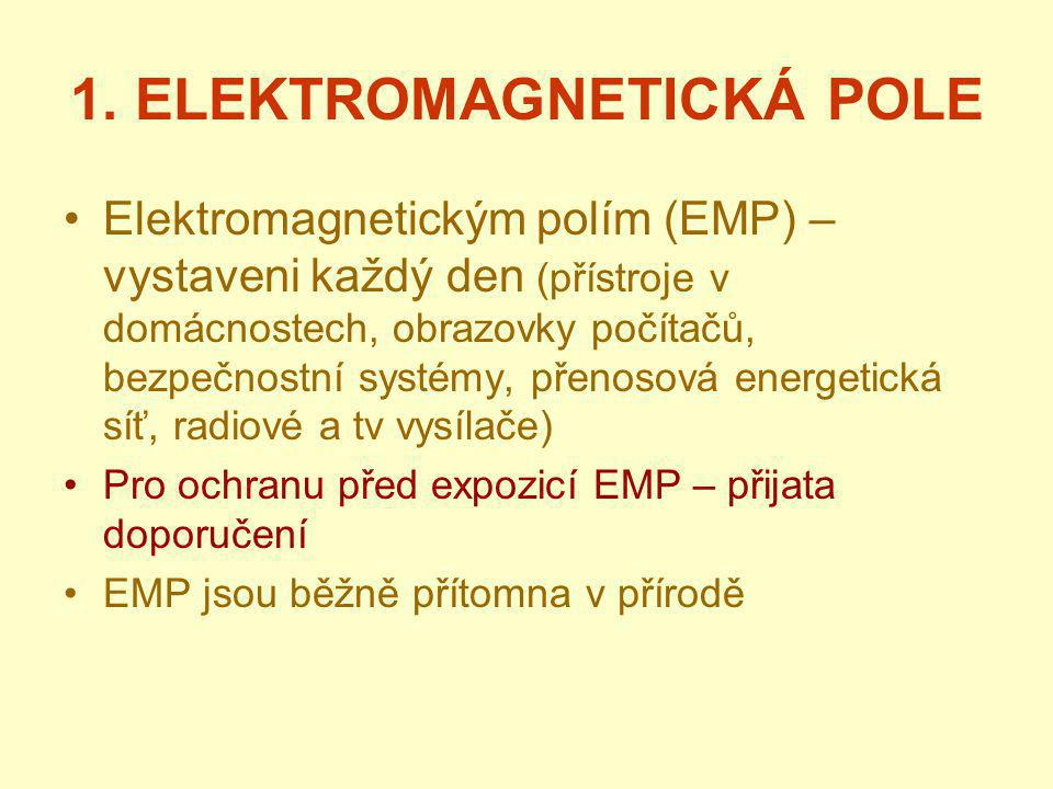 1. ELEKTROMAGNETICKÁ POLE