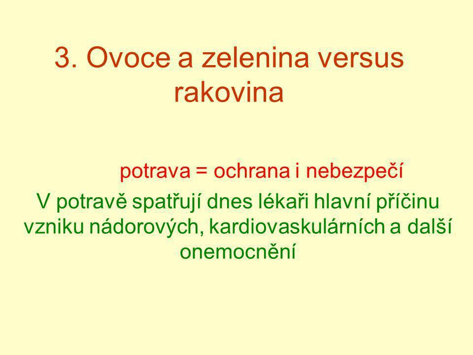3. Ovoce a zelenina versus rakovina