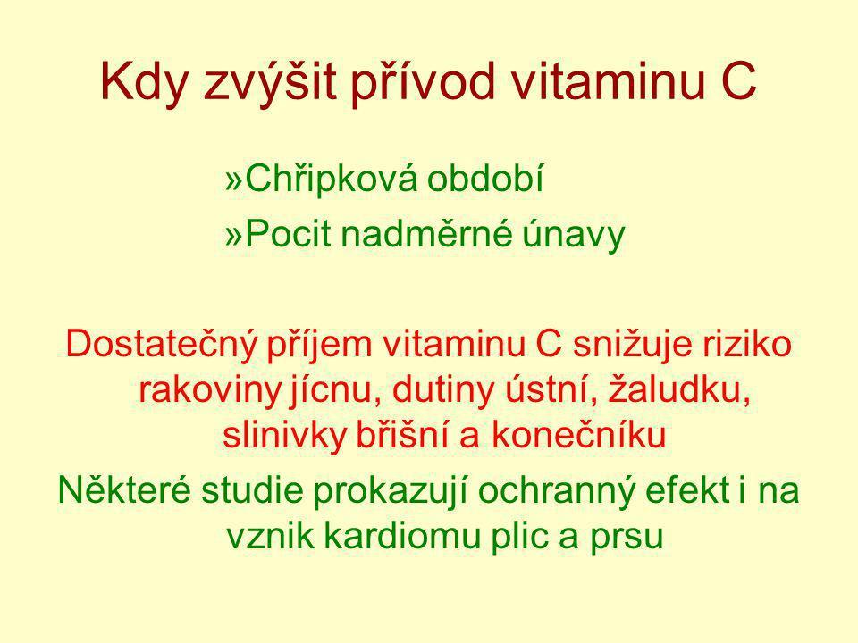 Kdy zvýšit přívod vitaminu C