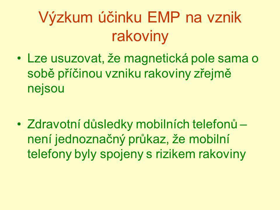 Výzkum účinku EMP na vznik rakoviny