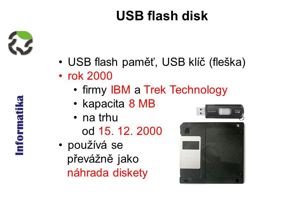 Informatika - pevný disk, další média