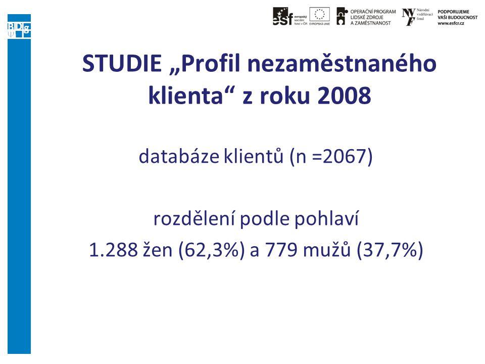 """STUDIE """"Profil nezaměstnaného klienta z roku 2008"""