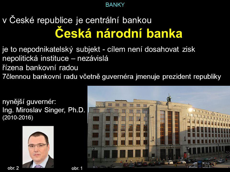 Česká národní banka v České republice je centrální bankou
