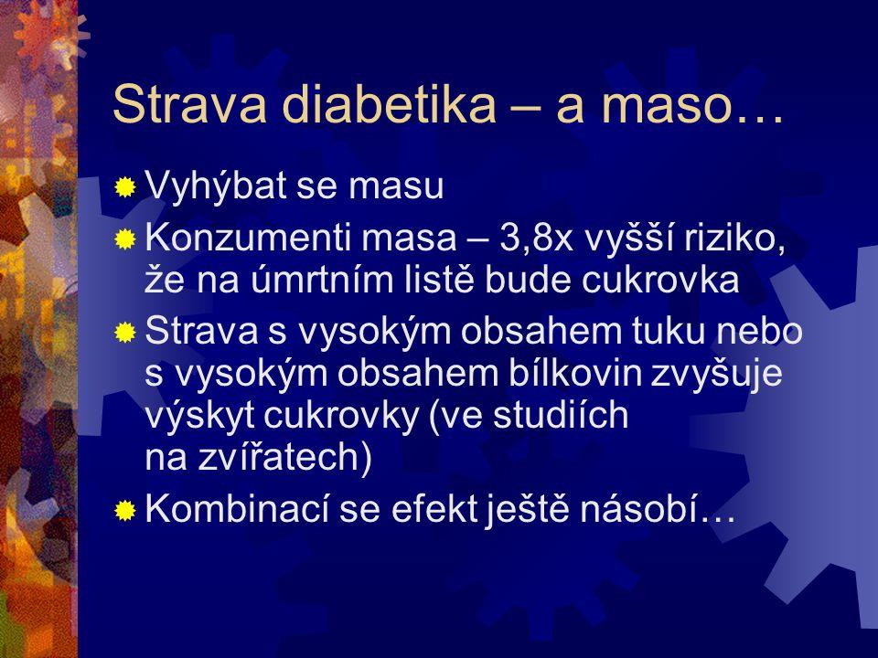 Strava diabetika – a maso…