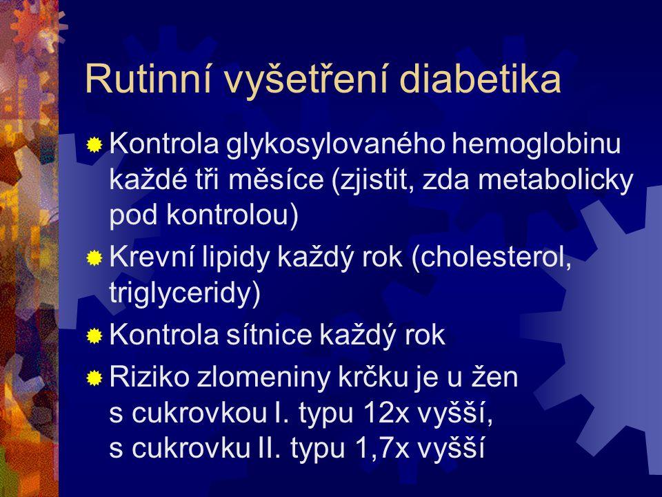 Rutinní vyšetření diabetika