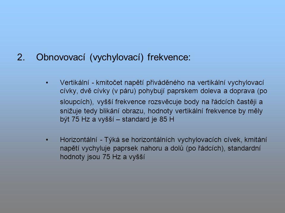 Obnovovací (vychylovací) frekvence: