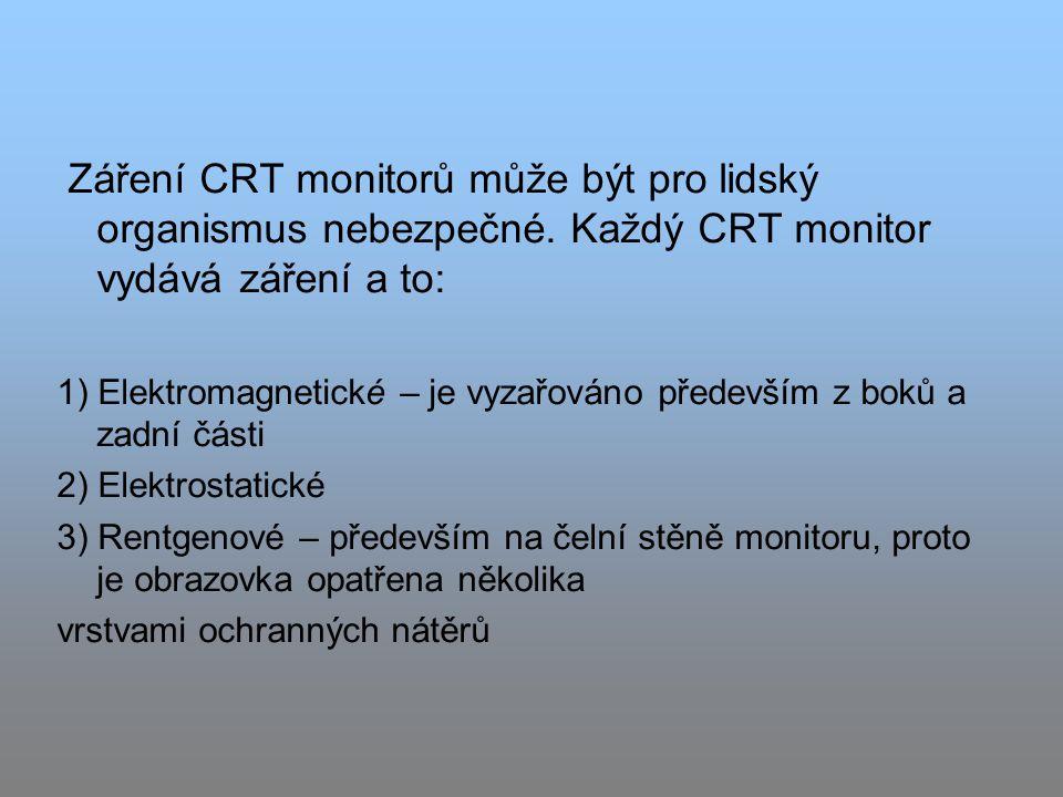 Záření CRT monitorů může být pro lidský organismus nebezpečné