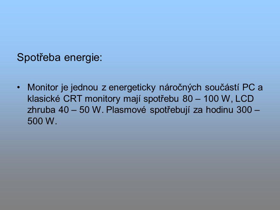 Spotřeba energie: