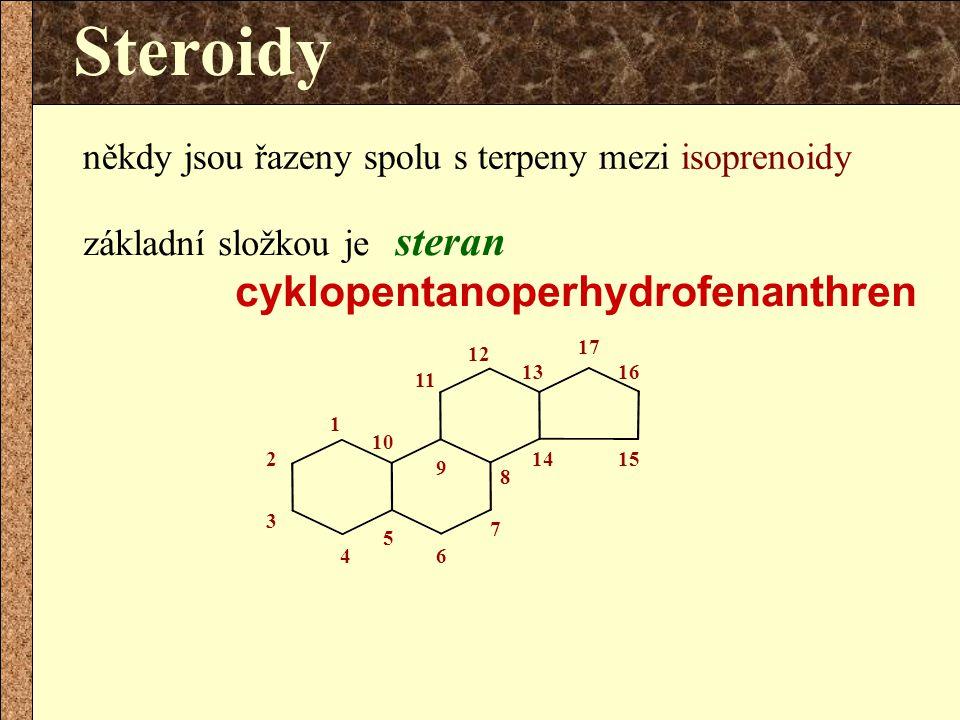 Steroidy někdy jsou řazeny spolu s terpeny mezi isoprenoidy