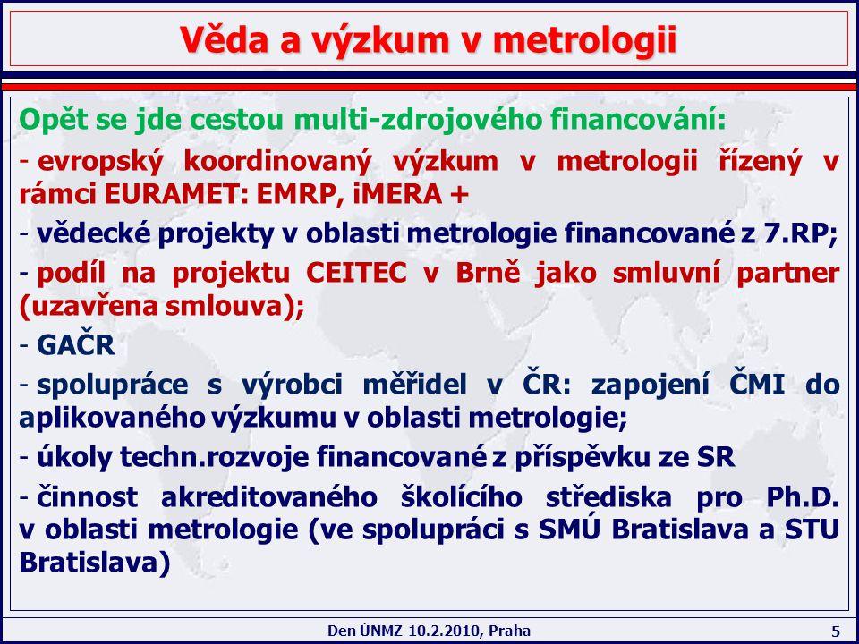 Věda a výzkum v metrologii