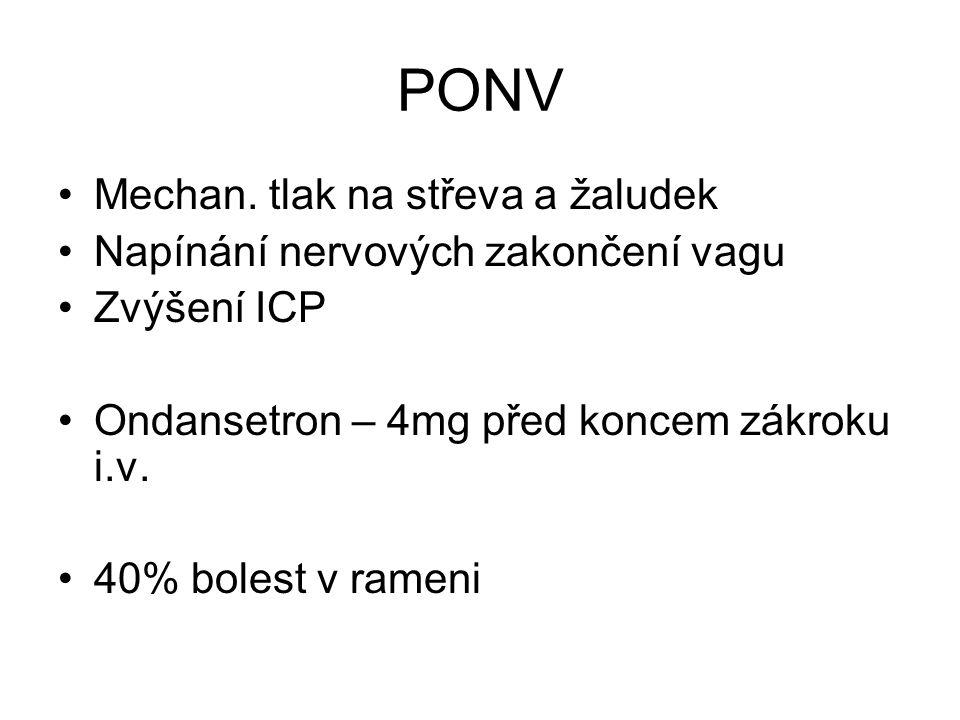 PONV Mechan. tlak na střeva a žaludek