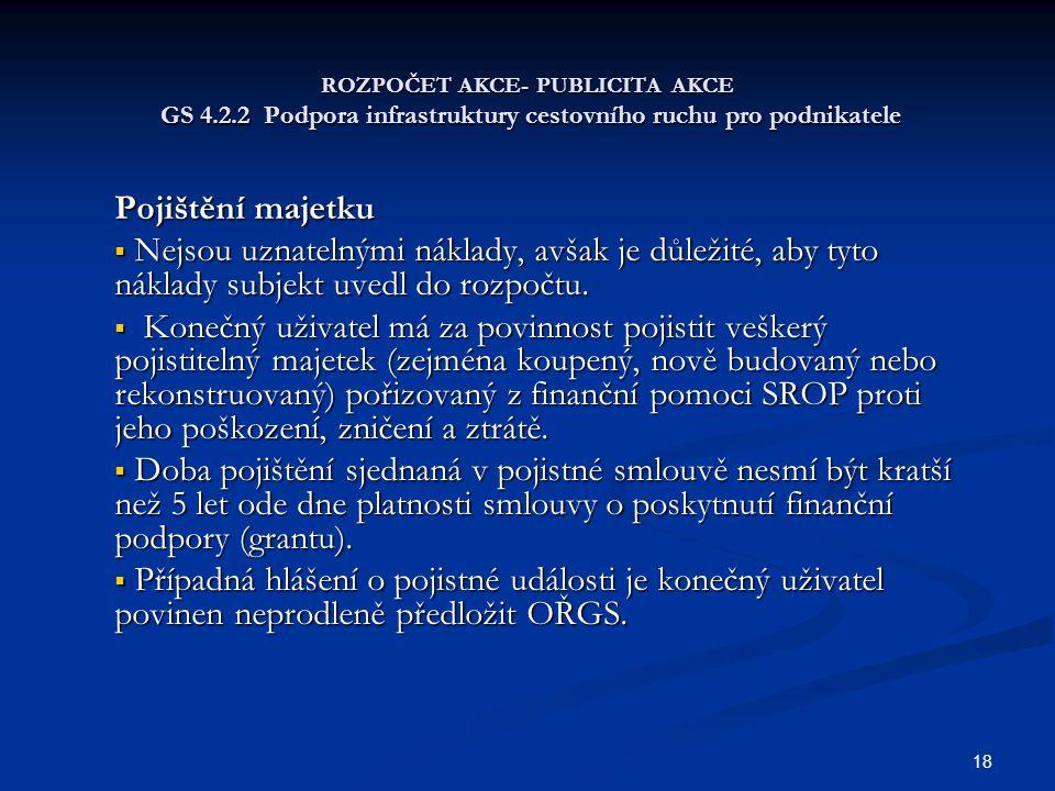 ROZPOČET AKCE- PUBLICITA AKCE GS 4. 2