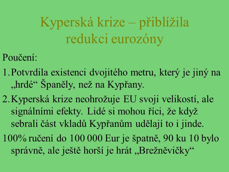 Kyperská krize – přiblížila redukci eurozóny