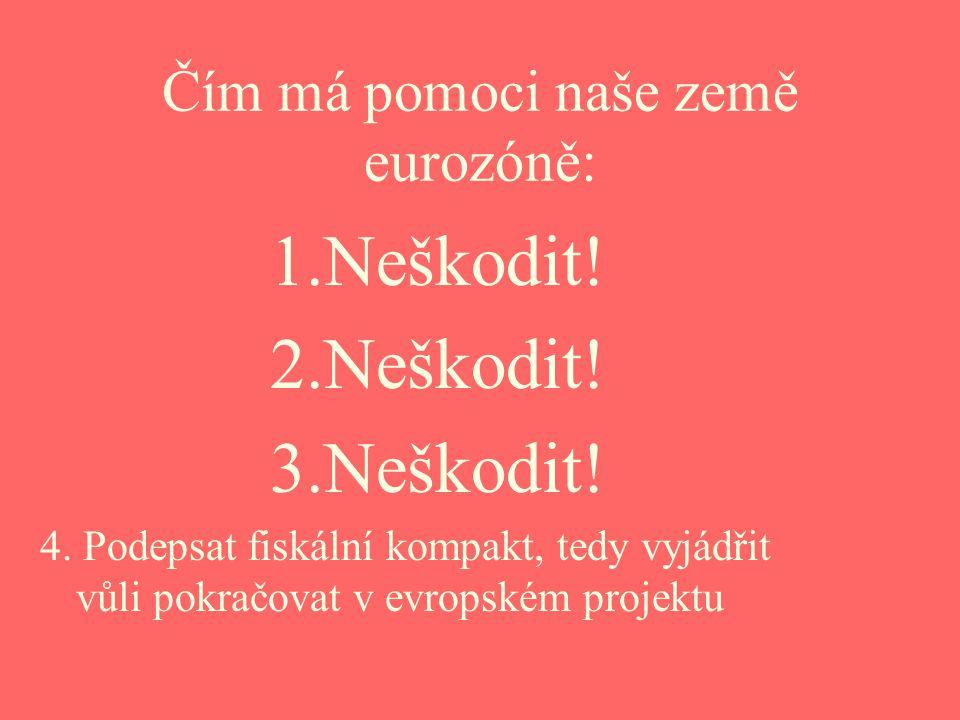 Čím má pomoci naše země eurozóně: