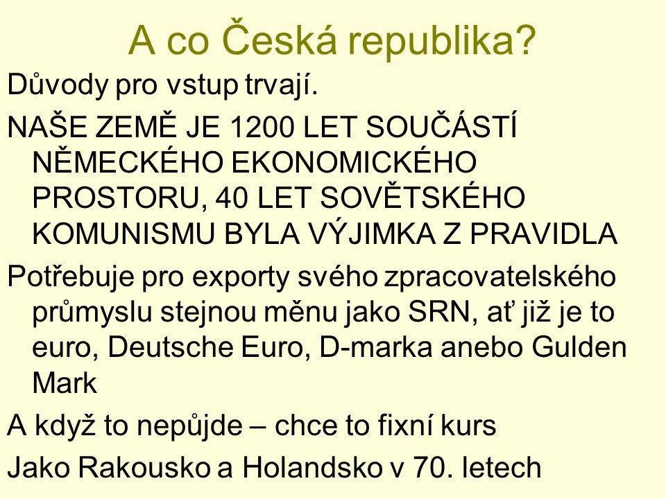 A co Česká republika Důvody pro vstup trvají.
