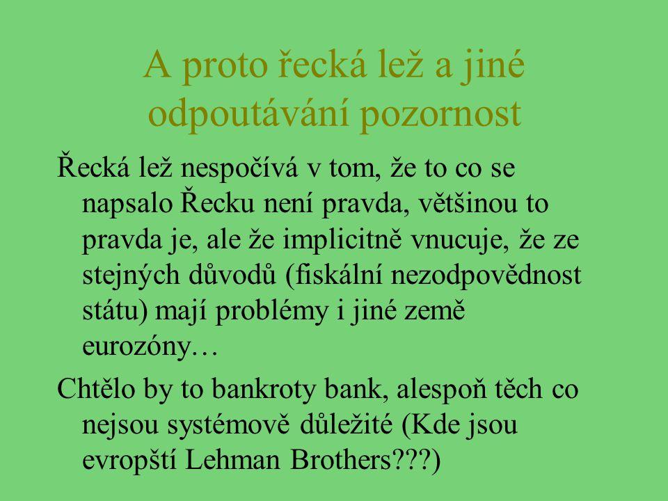 A proto řecká lež a jiné odpoutávání pozornost