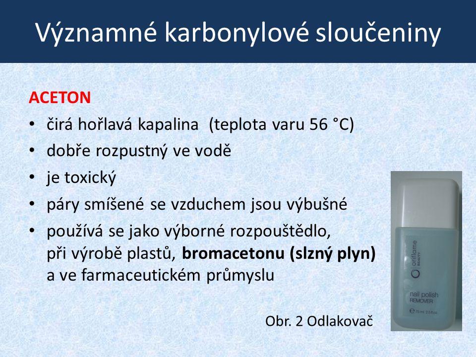 Významné karbonylové sloučeniny