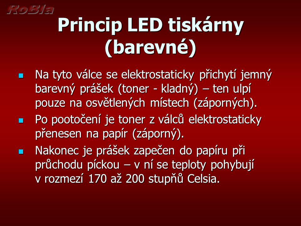 Princip LED tiskárny (barevné)