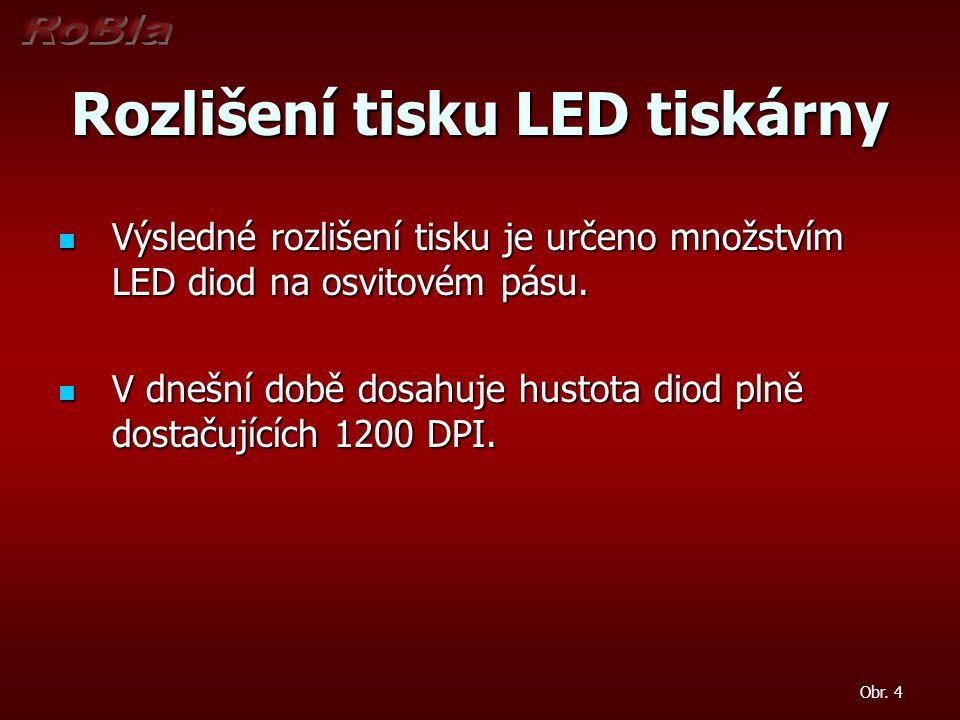 Rozlišení tisku LED tiskárny