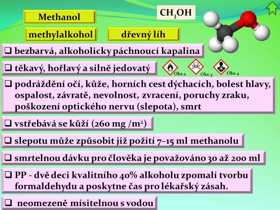 Methanol methylalkohol dřevný líh