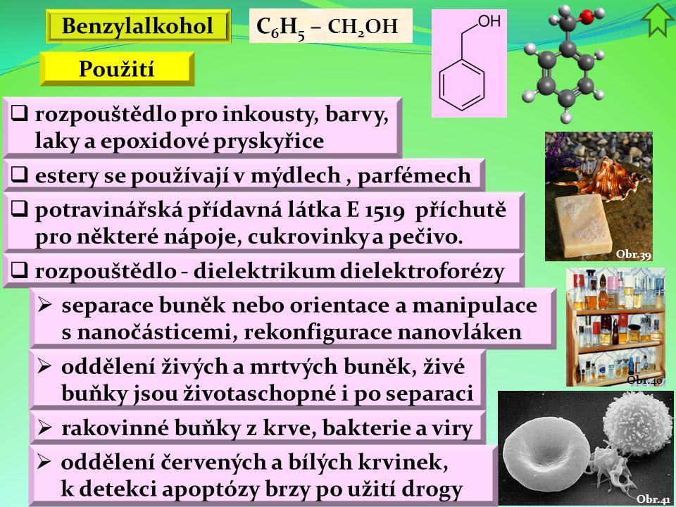 Benzylalkohol Použití