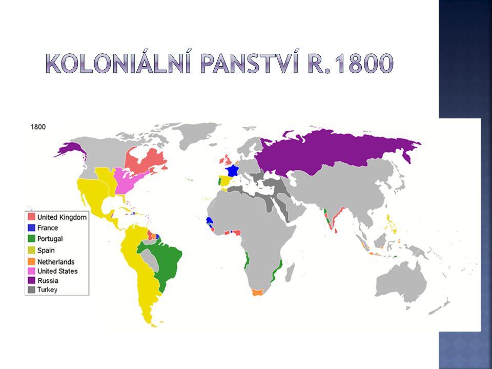 Koloniální panství r.1800