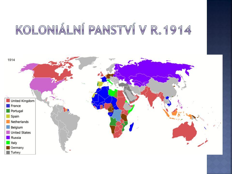 Koloniální panství v r.1914