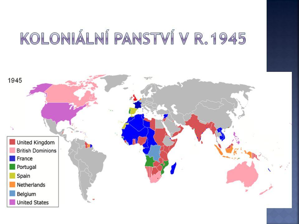 Koloniální panství v r.1945