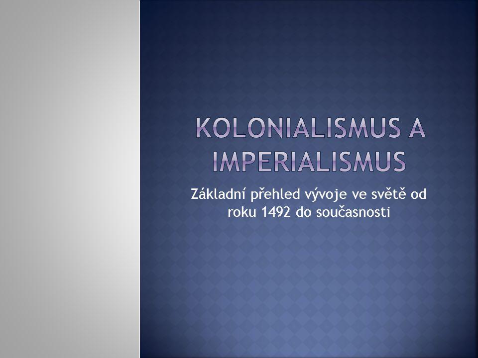 Kolonialismus a imperialismus