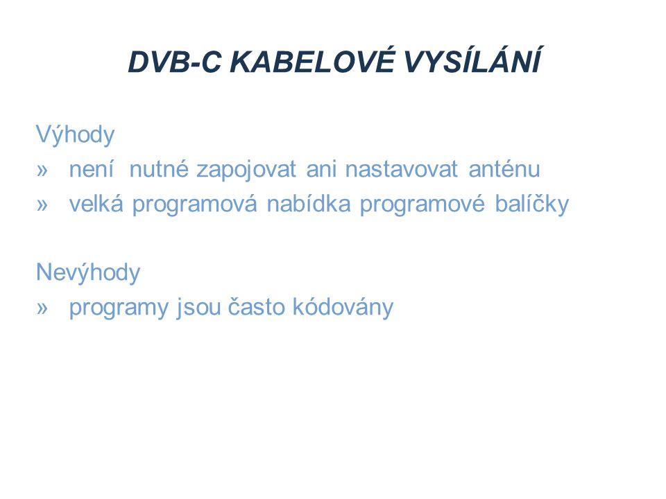 DVB-C kabelové vysílání