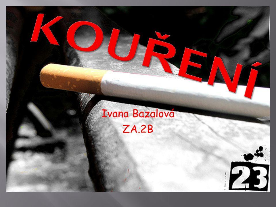 Kouření Ivana Bazalová ZA.2B