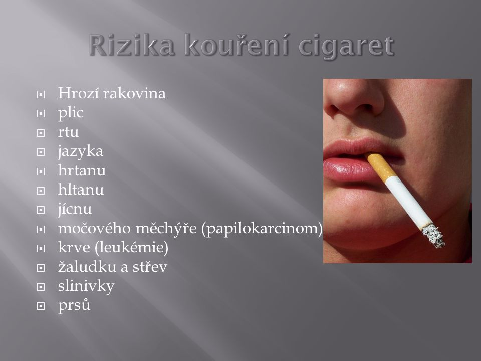 Rizika kouření cigaret