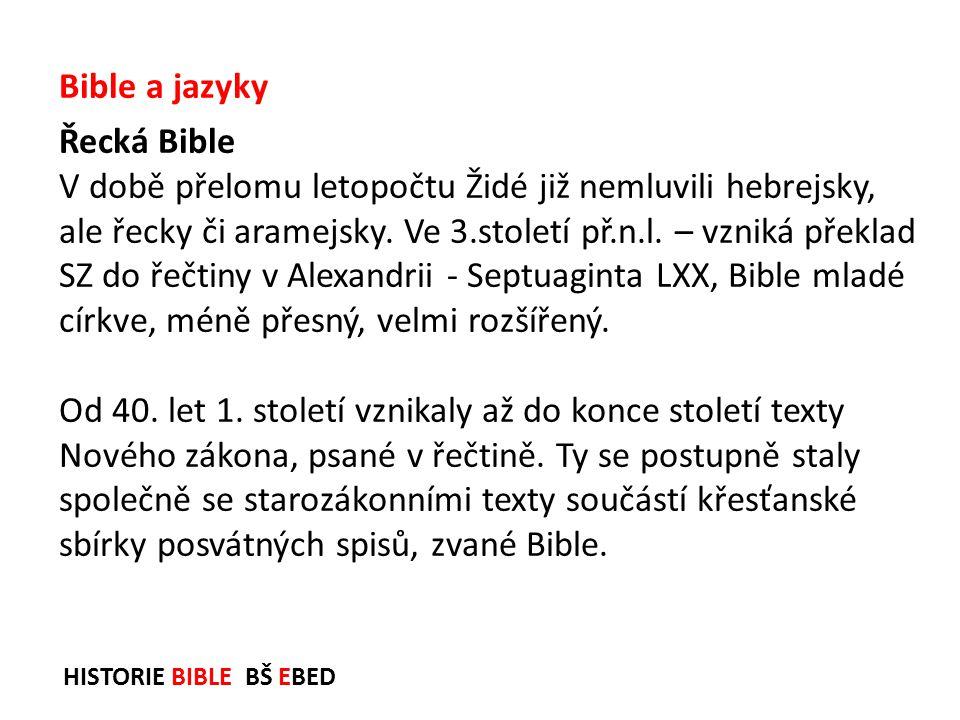 Bible a jazyky Řecká Bible