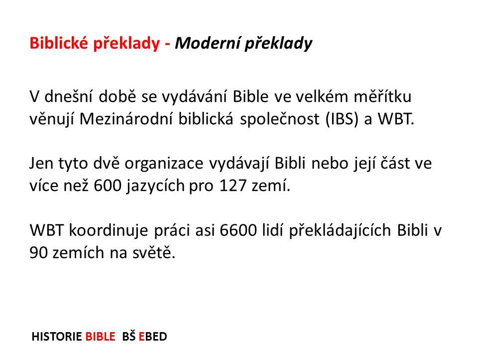 Biblické překlady - Moderní překlady