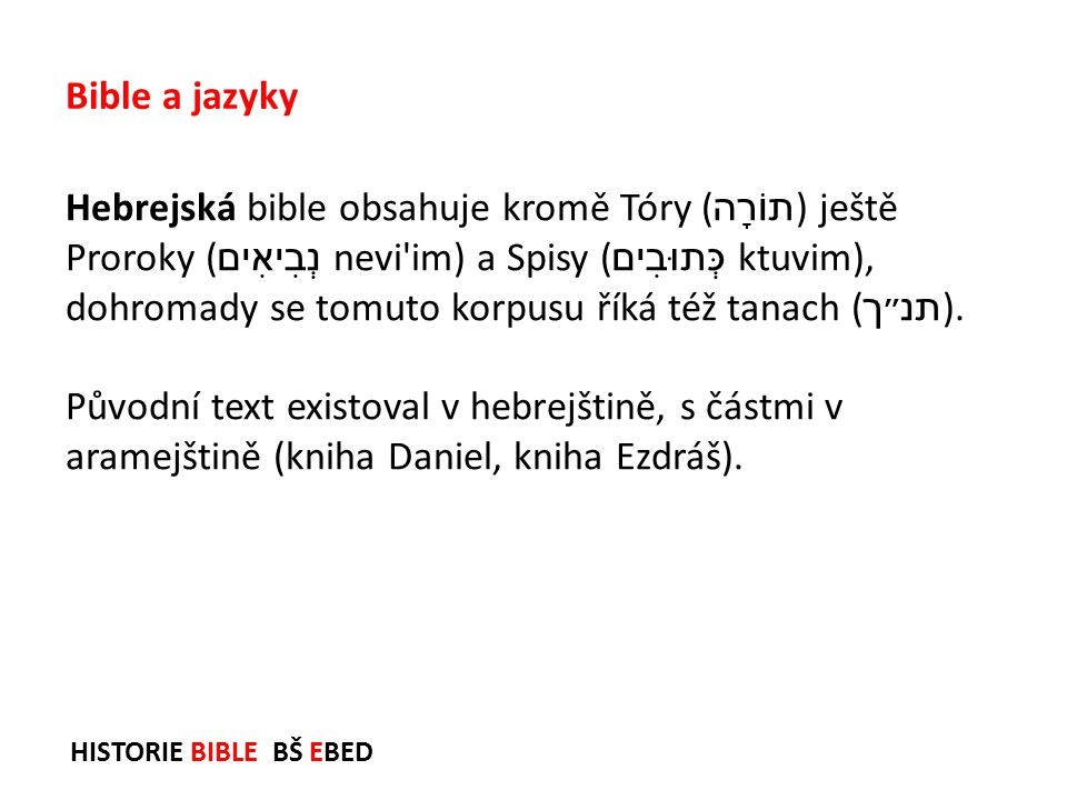 Bible a jazyky