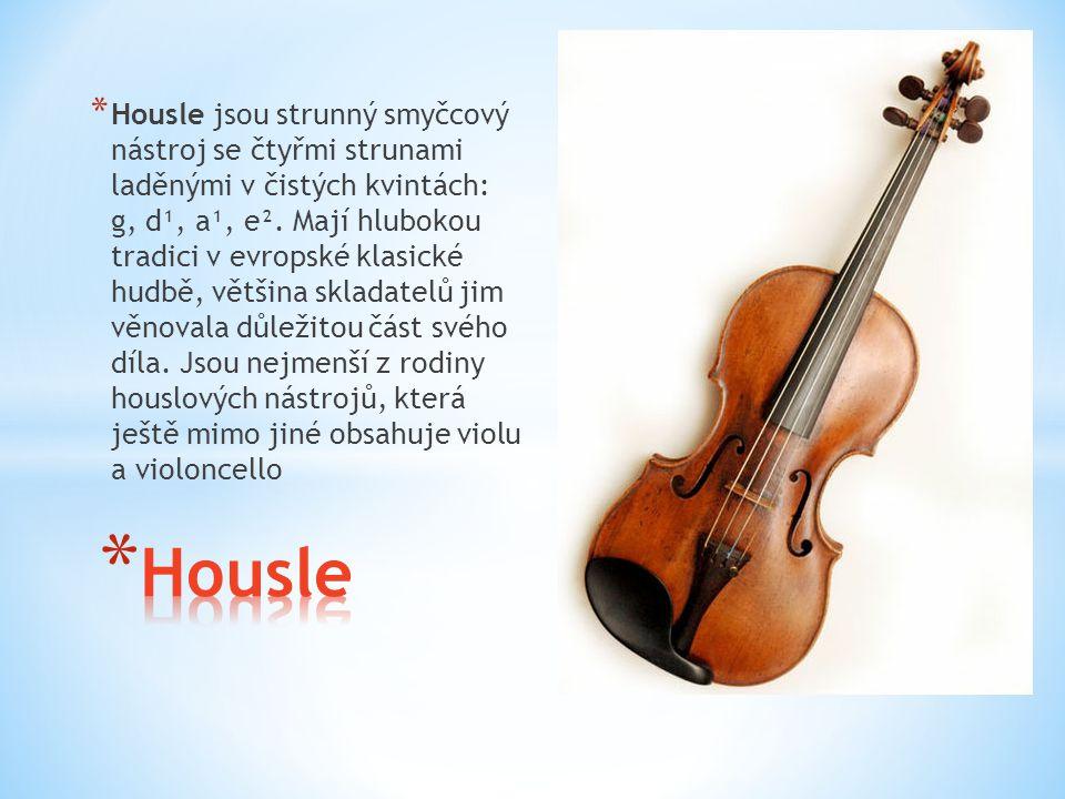 Housle jsou strunný smyčcový nástroj se čtyřmi strunami laděnými v čistých kvintách: g, d¹, a¹, e². Mají hlubokou tradici v evropské klasické hudbě, většina skladatelů jim věnovala důležitou část svého díla. Jsou nejmenší z rodiny houslových nástrojů, která ještě mimo jiné obsahuje violu a violoncello