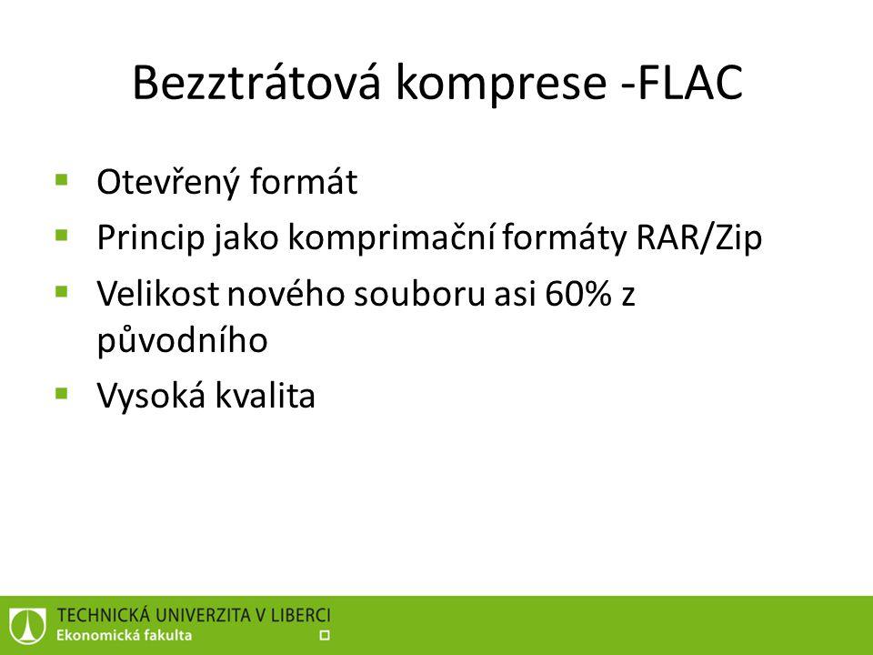 Bezztrátová komprese -FLAC