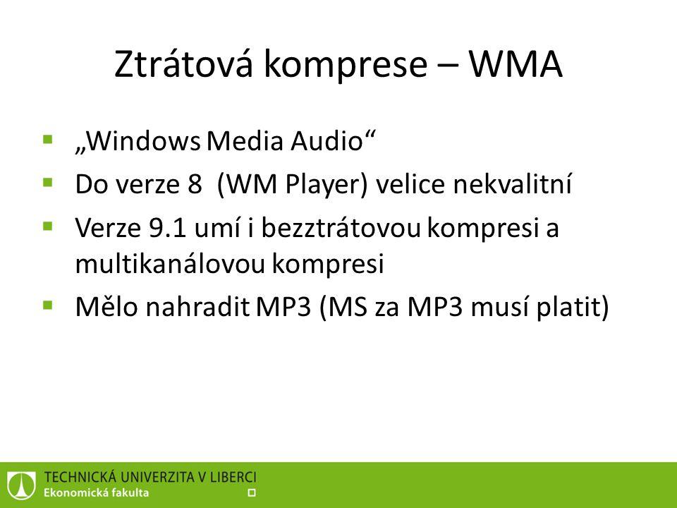 Ztrátová komprese – WMA