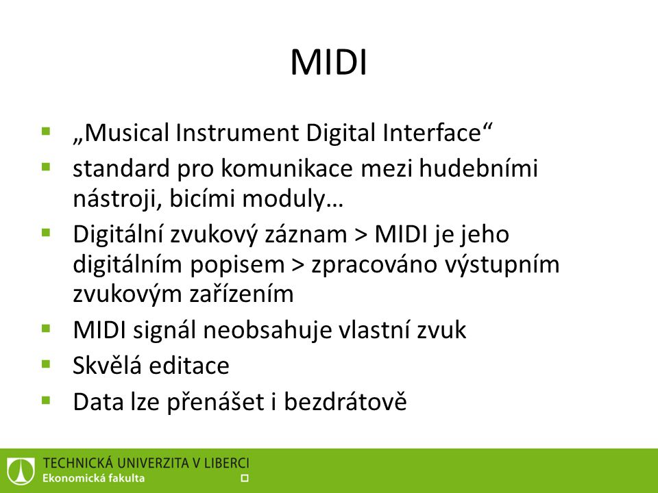 "MIDI ""Musical Instrument Digital Interface"